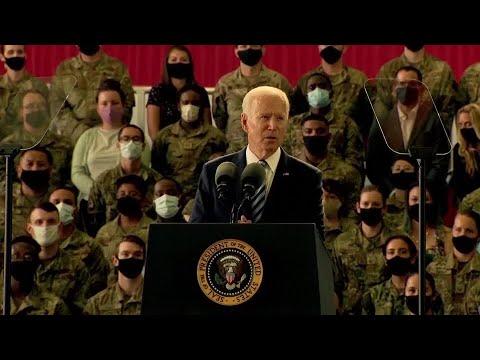 U.S. to respond in 'robust' way to Russian malice, President Joe Biden says