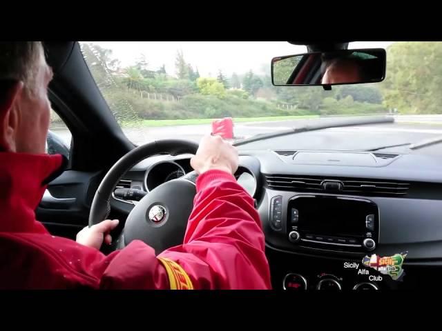 Warm up Alfa Romeo Quadrifoglio Verde – Pergusa