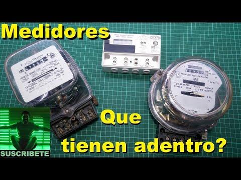 Medidores o contadores de consumo electrico, vatimetros, luz, kwh