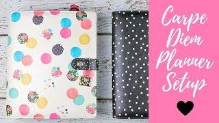 New Floral Dot Carpe Diem Planner Setup + Giveaway | Simple Stories | A5 Binder Basic Set Up