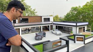 DIY Miniature Luxury Model House | 1/18 Scale Diorama | Miniature Homes