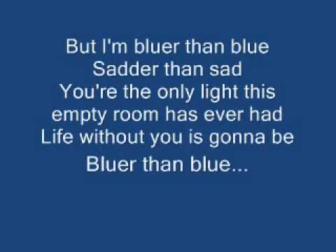 Bluer Than Blue  (with lyrics) - Michael Johnson  ( Cover by Bobit )