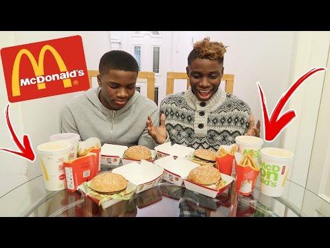 MCDONALDS BIG MAC BURGER CHALLENGE vs MY BROTHER! (IMPOSSIBLE FOOD CHALLENGE)