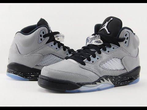 Air Jordan 5 GS Black Wolf Grey Review + On Feet