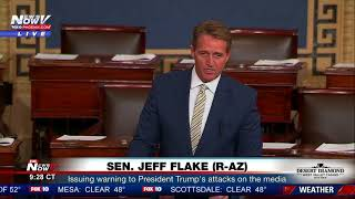 FAKE NEWS WATCHDOG: Senator Jeff Flake Warns President Trump Of Slamming Media (FNN)