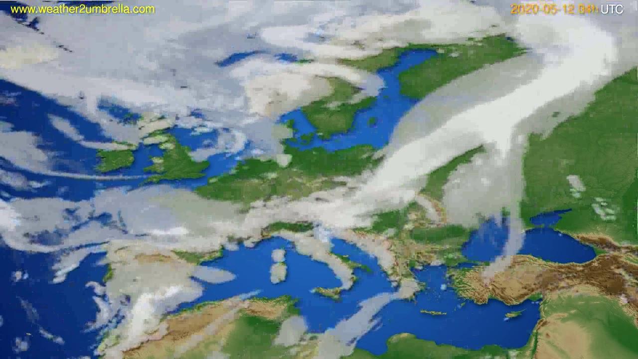 Cloud forecast Europe // modelrun: 12h UTC 2020-05-11