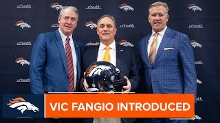 Vic Fangio Introduced as Broncos' Head Coach