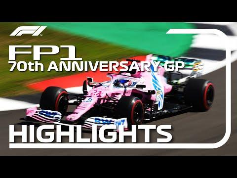 F1 2020 第5戦イギリスGP(70周年記念グランプリ) FP1ハイライト動画