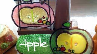 プラ板+レジンで「リンゴ ストラップ」の作り方   Shrink Plastic