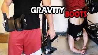 Gravity Boots. Training über Kopf. Kreuzheben und Bandscheiben richten.