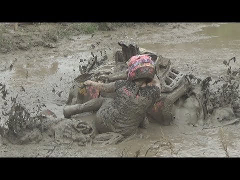 KRISTY VS WORST MUD HOLE EVER! WHO WILL WIN