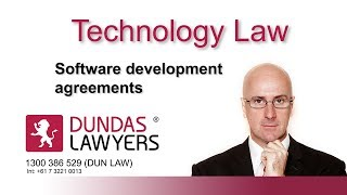 Software development agreements
