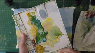 How to paint sailing boat low water primary colours only