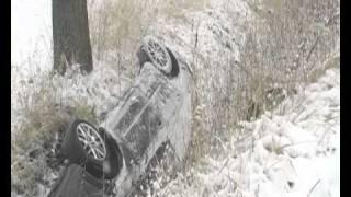 preview picture of video 'Wypadek na trasie Bielawa - Pieszyce'