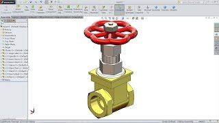 SolidWorks tutorial | Design and Assembly of Gate Valve in SolidWorks | Solidworks