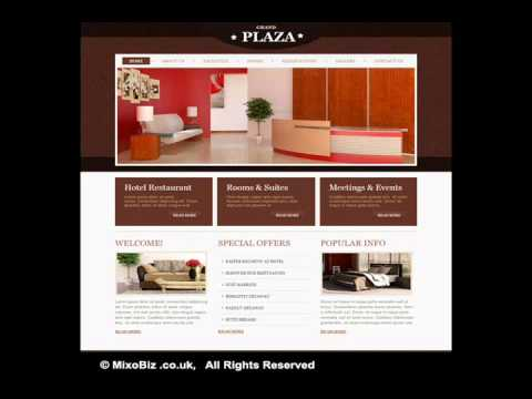Entertainment related web design samples ( MixoBiz )