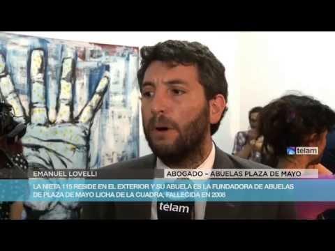 Conferencia de prensa por la restitución de la nieta  Ana Libertad Baratti De la Cuadra