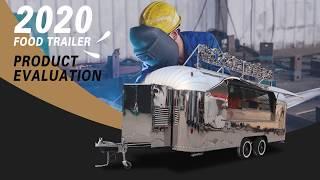 Custom Quality Food Truck Street Food Trailer Cart Design For Sale Serving Coffee Burgers