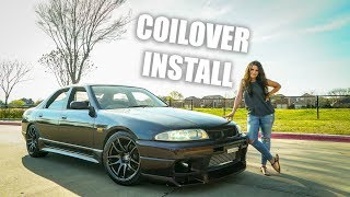 R33 SKYLINE GETS NEW COILOVER SUSPENSION!