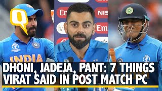Dhoni, Jadeja, Pant: 7 Things Virat Kohli Said in Post-Match PC | The Quint