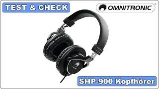 Test & Check - Omnitronic SHP-900 - Monitoring Kopfhörer