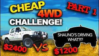 Two 4WDs Bought & Built for UNDER $5k! You won't believe what 4x4 Shauno's Driving! EPISODE 1