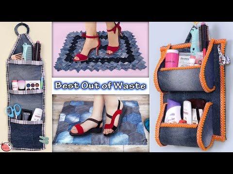 Reuse Old Jeans 6 Usefull Diy Home Organization