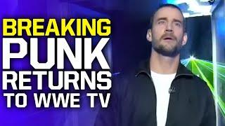 CM Punk Returns To WWE TV