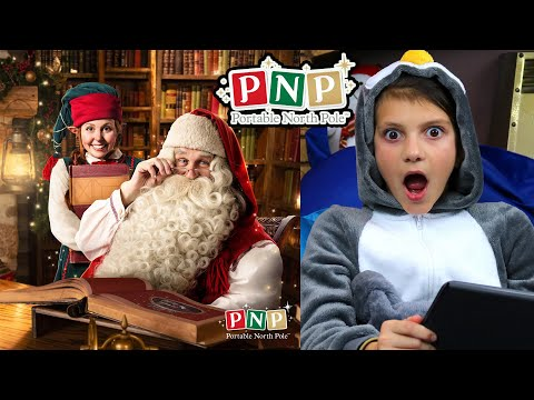 Santa Sends A Message To Tahlia From The Portable North Pole #Ad 🎅