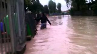 preview picture of video 'Alluvione Parma: a piedi da via Stirone a barriera Bixio sommerse dall'acqua'