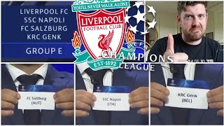 LIVERPOOL CHAMPIONS LEAGUE DRAW REACTION