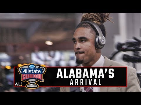 Follow Alabama as the Crimson Tide arrives at the Superdome for CFP semifinal against Clemson
