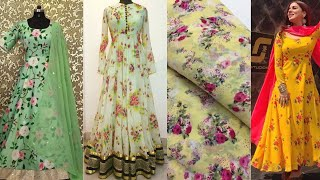 Printed Chiffon Gown Designs || Stitch Your Own Designer Gowns From Printed Chiffon Fabric Ideas
