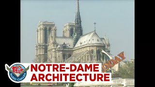 Notre-Dame Cathedral And Its Flying Buttresses And Mysterious Gothic Architecture, 1990