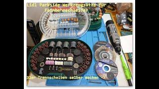 Lidl Parkside Werkzeugsätze für Feinbohrschleifer - 32er Trennscheiben selber machen
