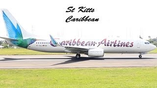Caribbean Airlines 737-800 @ St Kitts (HD 1080p)