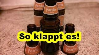 Flasche Schneiden Mit Einem Faden / Schnur