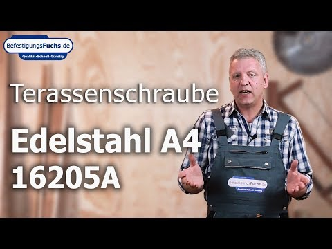 Arrestix Terrassenschrauben - Edelstahl A4 - Zylinderkopf - Torx - blank