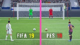 FIFA 19 Vs PES 19: Penalty Kicks