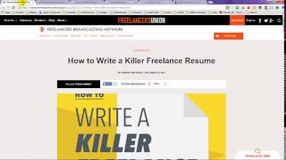 How To List Freelance Work on Resume