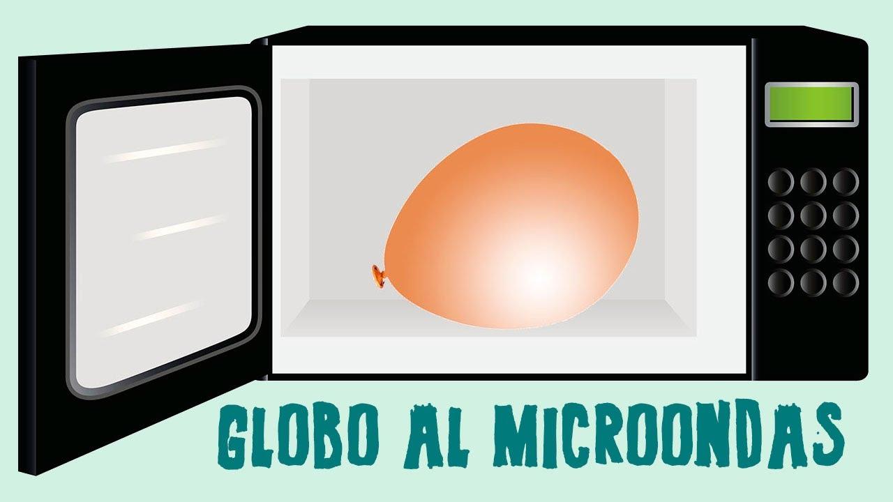 Cómo inflar un globo en el microondas. Ciencia para niños