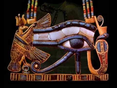 Pendentif de Toutânkhamon en forme d'oeil oudjat
