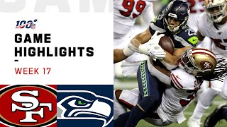 49ers vs. Seahawks Week 17 Highlights | NFL 2019