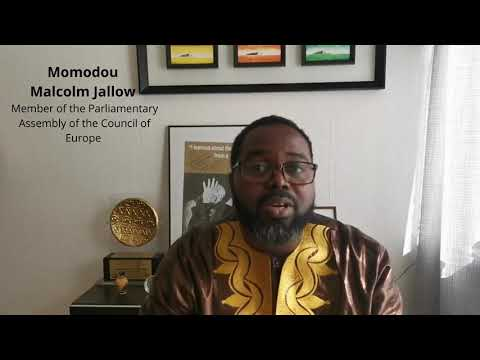 PACE General Rapporteur on combating racism & intolerance Momodou Malcolm Jallow - Europe Day 2020