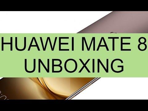 Unboxing Huawei Mate 8 e prime impressioni