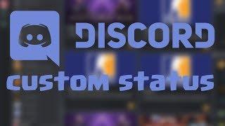 Как сделать анимированный статус в Discord