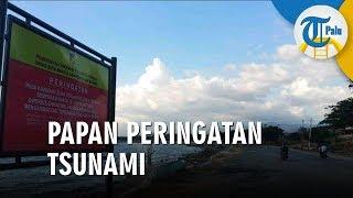 Pemprov Pasang Papan Peringatan Tsunami di Pantai Eks Tsunami