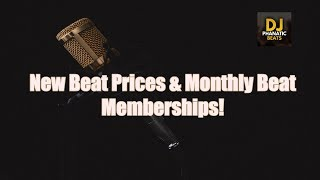 New Beat Prices & Monthly Beat Memberships!