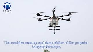 amazing airless drone sprayer spray pesticide or water into field / drone fertilizer spreader