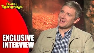 The Hobbit Star Martin Freeman Loves His Slippers - The Desolation Of Smaug Interview (2013)